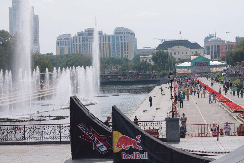 Вело-мото-экстрим шоу «Европа-Азия» Екатеринбург 296-летие.