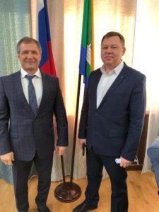 Рабочая встреча с Председателем Екатерингбургской городской думы.